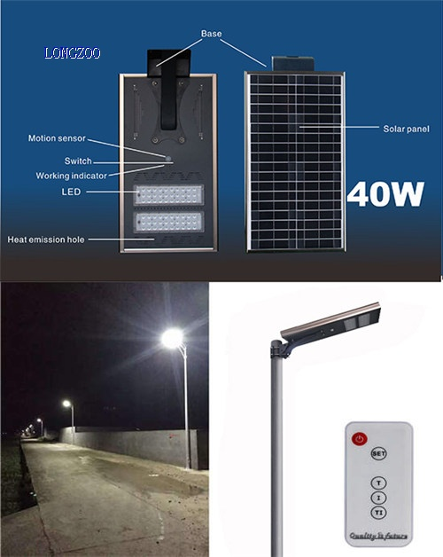 40W All in one solar smart light