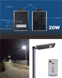 All in one solar smart light